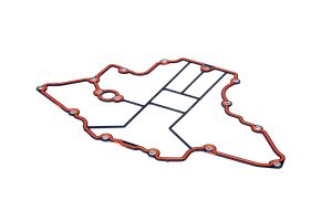 Gasket for batwing oil pan