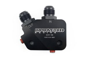 Improved Racing EGM-106 Low-Profile Oil Cooler Adapter for LS Engines with Fittings